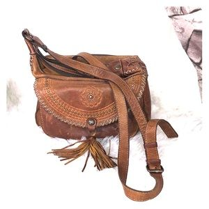 Patricia Nash Distressed Vintage Beaumont Flap Bag